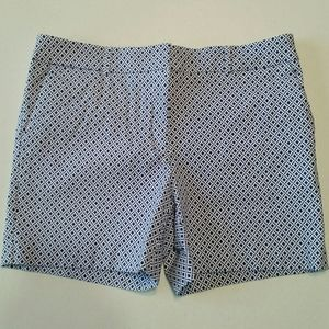 Counterparts Blue & White Stretchy Dress Shorts 8